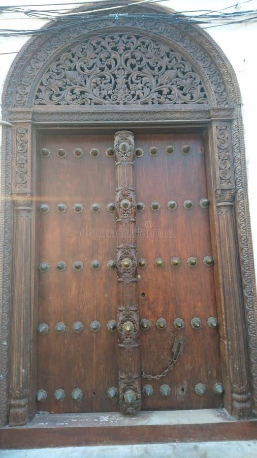 Πόρτα Zanzibar στοκ εικόνες