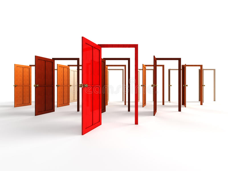 πόρτες ανοικτές ελεύθερη απεικόνιση δικαιώματος