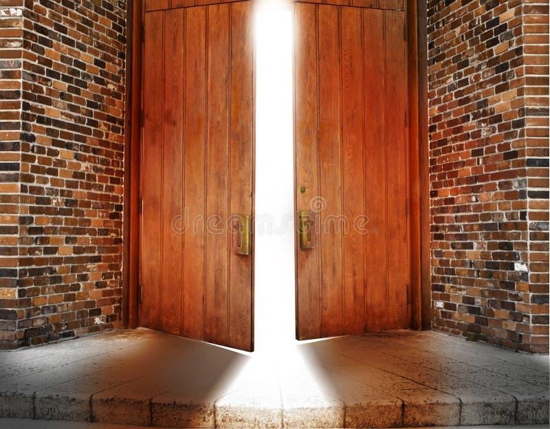 πόρτες εκκλησιών στοκ εικόνα