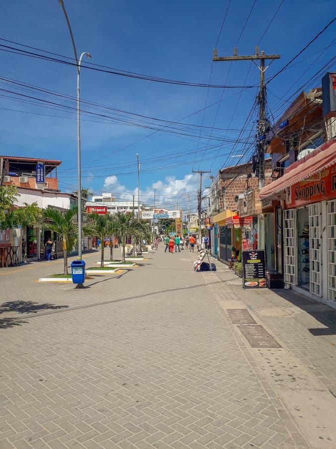 Πόρτο Galinhas, Pernambuco, Βραζιλία, 16,2019 Μαρτίου: Άνθρωποι την ηλιόλουστη ημέρα στην παραλία του Πόρτο Galinhas, άνθρωποι πο στοκ φωτογραφίες με δικαίωμα ελεύθερης χρήσης