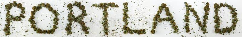 Πόρτλαντ που συλλαβίζουν με τη μαριχουάνα στοκ εικόνες