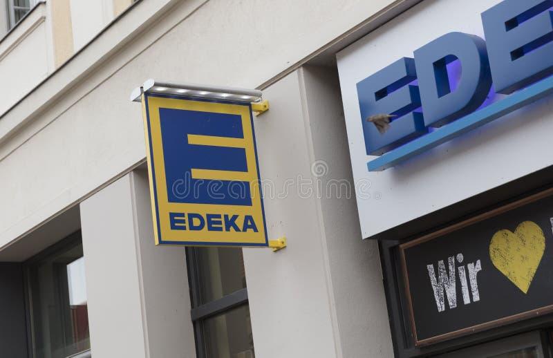 Πότσνταμ, Βερολίνο, Ευρώπη: Στις 20 Αυγούστου 2018: Υπεραγορά SIG Edeka στοκ φωτογραφία