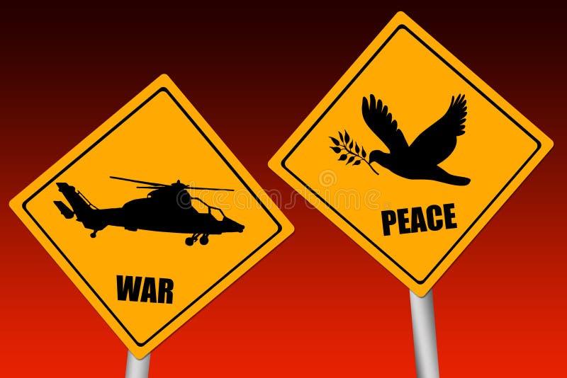 πόλεμος ειρήνης απεικόνιση αποθεμάτων