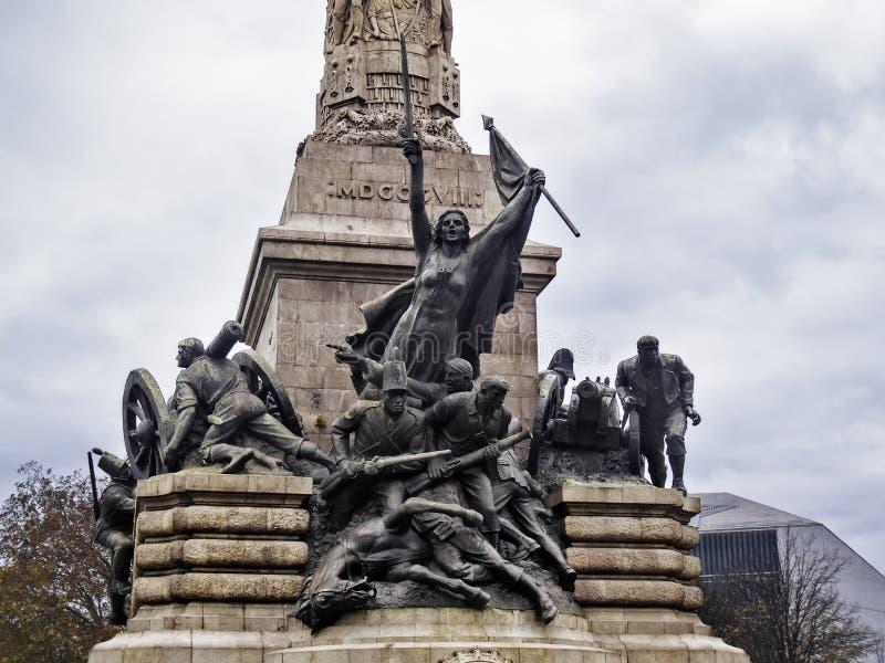 Πόλεμος ενάντια στο μνημείο Napoleon στοκ εικόνες