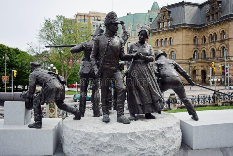 Πόλεμος 1812 του μνημείου, Οττάβα, Οντάριο, Καναδάς στοκ φωτογραφίες
