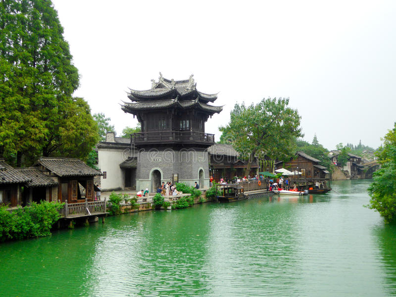 Πόλης άποψη Wuzhen στοκ φωτογραφία με δικαίωμα ελεύθερης χρήσης