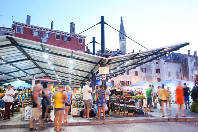Πόλης αγορά σε Rovinj στοκ φωτογραφίες με δικαίωμα ελεύθερης χρήσης