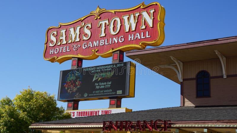 Πόλης ξενοδοχείο του Sam & αίθουσα παιχνιδιού στο Λας Βέγκας, Νεβάδα στοκ φωτογραφίες