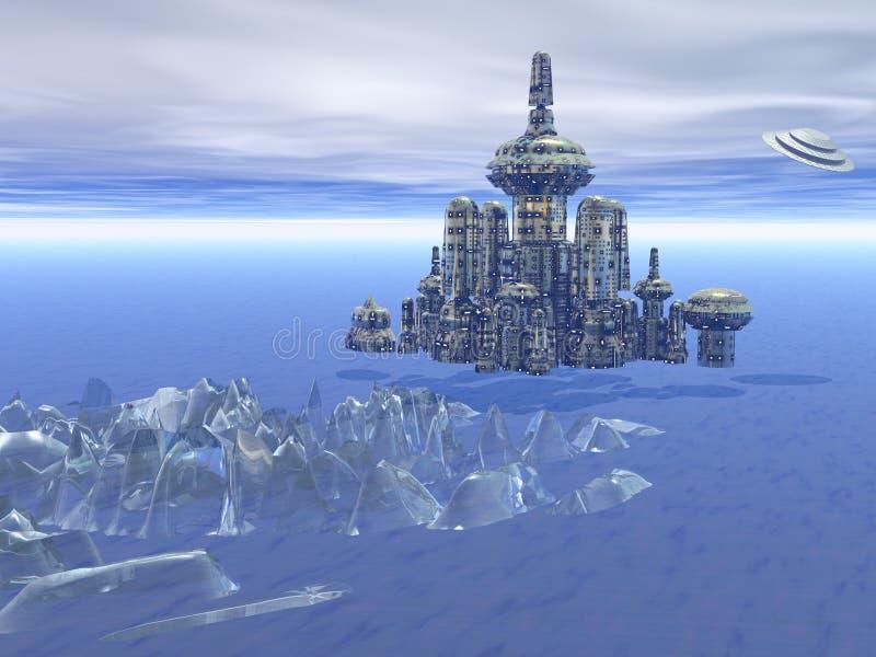 Πόλη †‹â€ ‹«στο διάστημα απεικόνιση αποθεμάτων