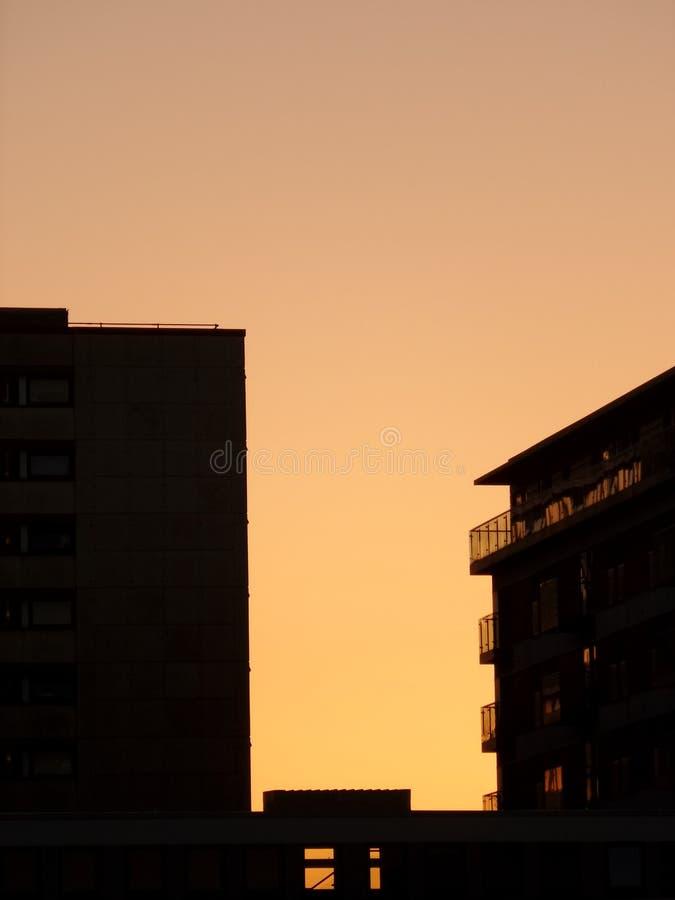 Πόλη ηλιοβασιλέματος στοκ εικόνα με δικαίωμα ελεύθερης χρήσης