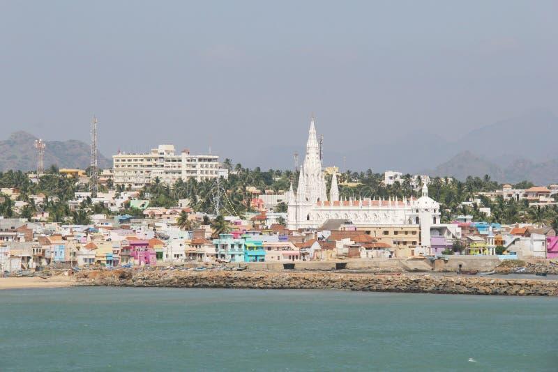 Πόλη και εκκλησία Kanyakumari στοκ εικόνες