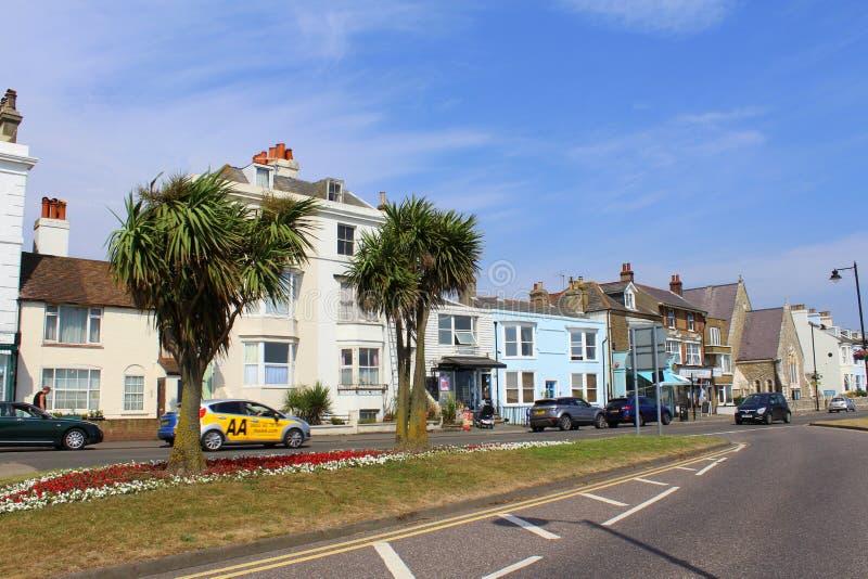 Πόλη Κεντ UK Walmer άποψης οδών στοκ φωτογραφίες με δικαίωμα ελεύθερης χρήσης