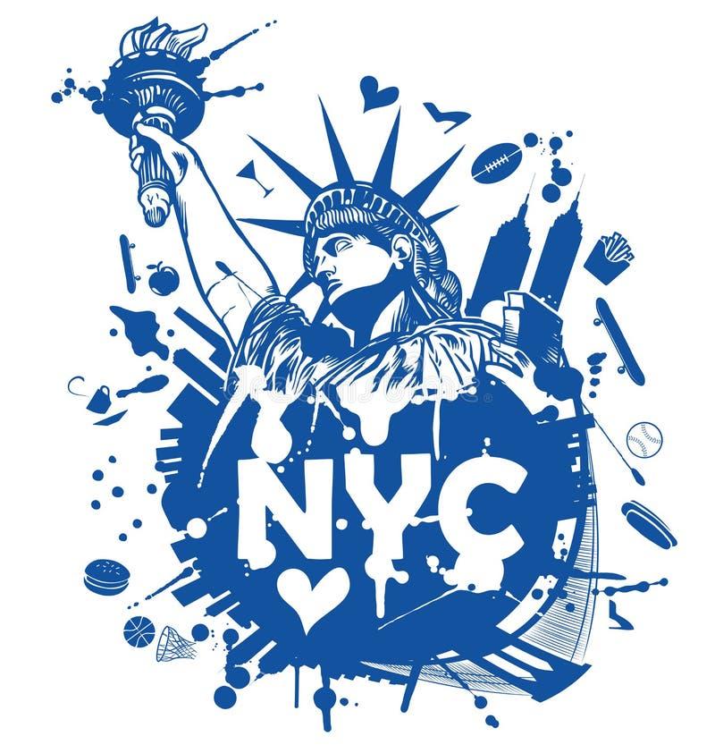 πόλη Νέα Υόρκη ανασκόπησης διανυσματική απεικόνιση