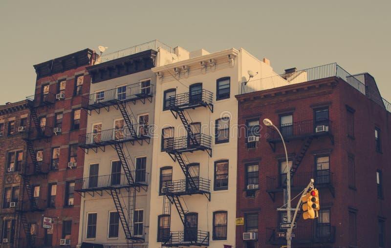 πόλη Νέα Υόρκη Χτίζοντας τρύγος Παλαιά εικόνα ύφους στοκ εικόνες με δικαίωμα ελεύθερης χρήσης
