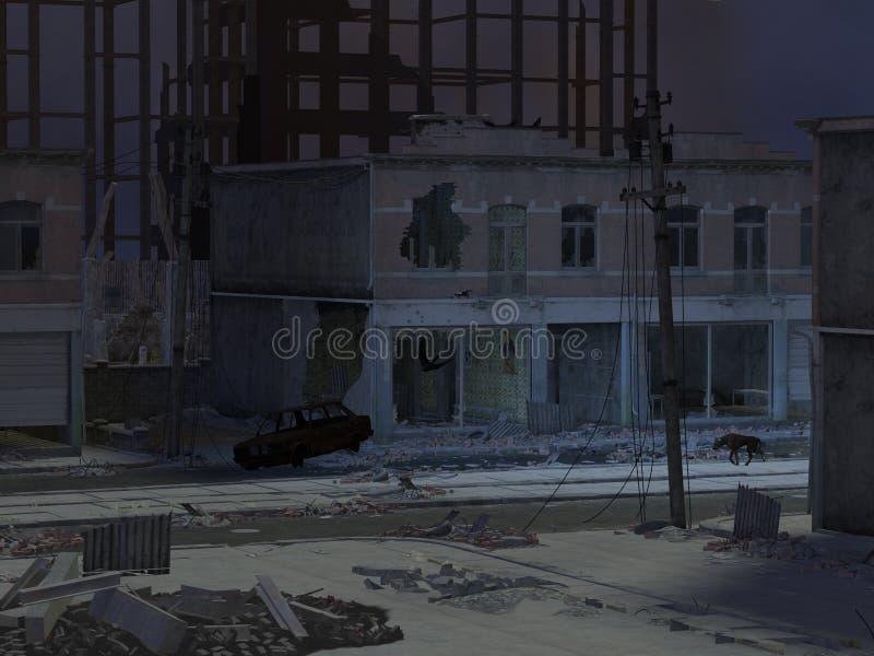 πόλη νεκρή διανυσματική απεικόνιση