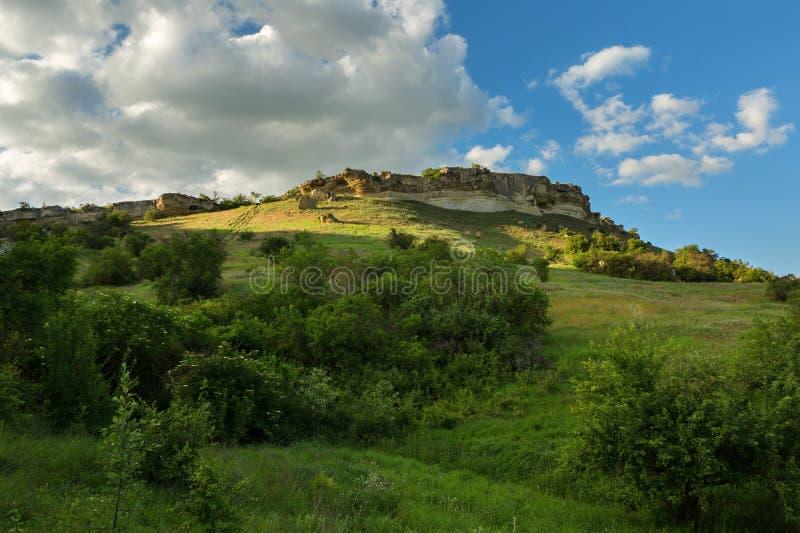 Πόλη σπηλιών σε Bakhchysarai Raion, Κριμαία στοκ εικόνες