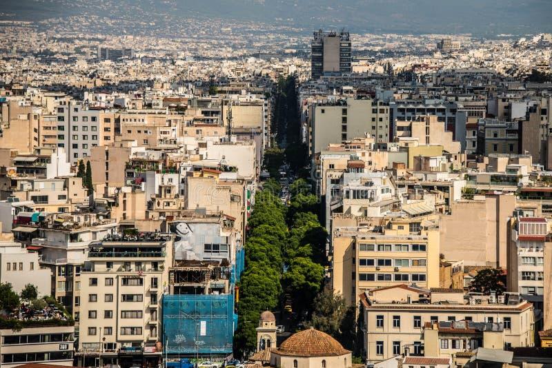 Πόλη της Αθήνας, Ελλάδα στοκ φωτογραφίες με δικαίωμα ελεύθερης χρήσης