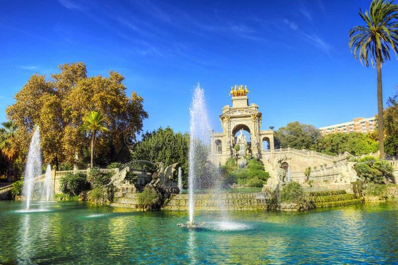 Πόλη της Βαρκελώνης - πυροβολισμοί της Ισπανίας - ταξίδι Ευρώπη στοκ εικόνα