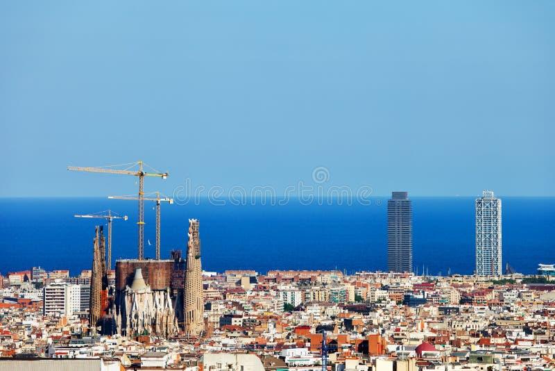 Πόλη της εικονικής παράστασης πόλης της Βαρκελώνης στοκ φωτογραφία με δικαίωμα ελεύθερης χρήσης
