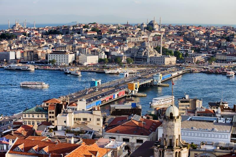 Πόλη της εικονικής παράστασης πόλης της Ιστανμπούλ στην Τουρκία στοκ εικόνες με δικαίωμα ελεύθερης χρήσης