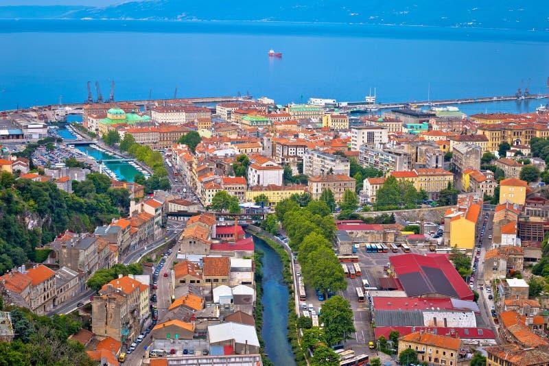 Πόλη της εναέριας άποψης του Rijeka στοκ εικόνα