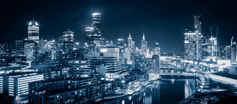 Πόλη της Μελβούρνης στοκ εικόνα με δικαίωμα ελεύθερης χρήσης