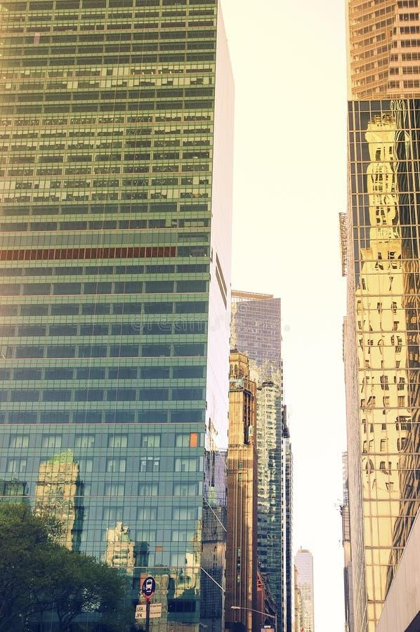 Πόλη της Νέας Υόρκης, ουρανοξύστης στο ηλιοβασίλεμα στοκ φωτογραφία με δικαίωμα ελεύθερης χρήσης