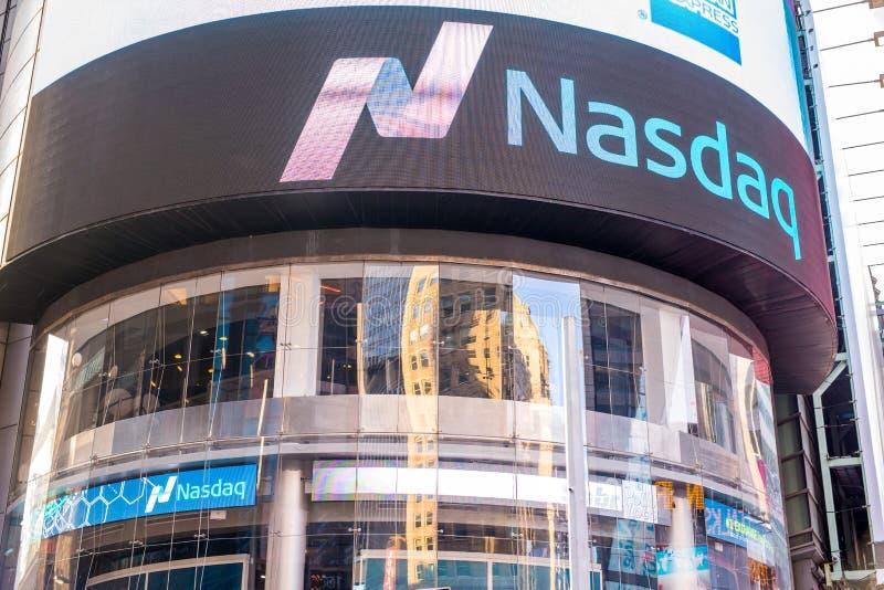 Πόλη της Νέας Υόρκης χρηματιστηρίου Nasdaq στοκ εικόνες
