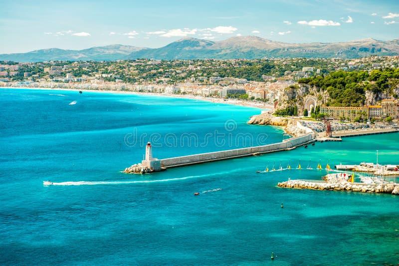 Πόλη της Νίκαιας, Μεσόγειος, Γαλλία, γαλλικό riviera στοκ εικόνα με δικαίωμα ελεύθερης χρήσης