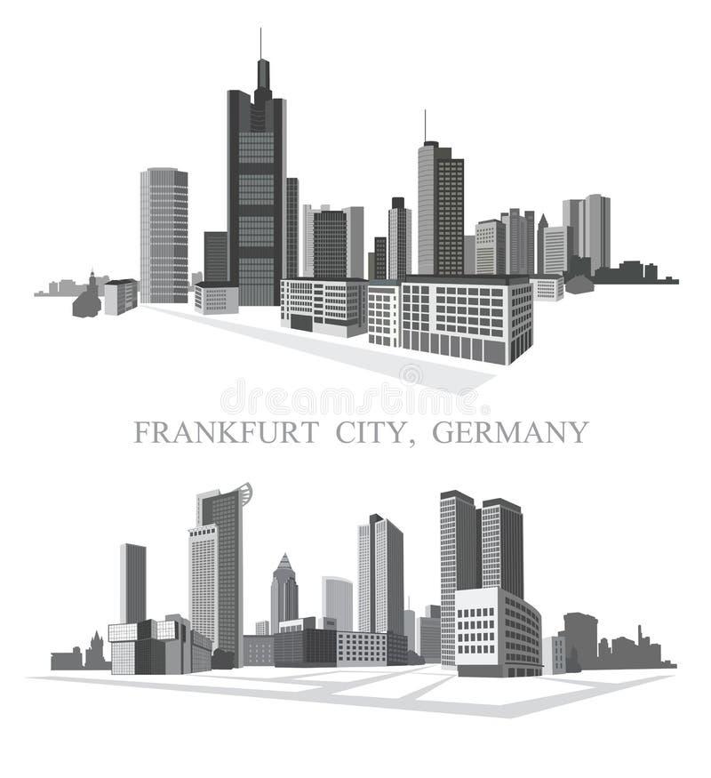 Πόλη της Φρανκφούρτης απεικόνιση αποθεμάτων