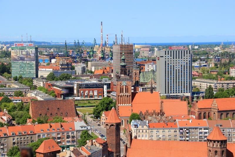 Πόλη του Γντανσκ, πανόραμα, Πολωνία στοκ φωτογραφία με δικαίωμα ελεύθερης χρήσης