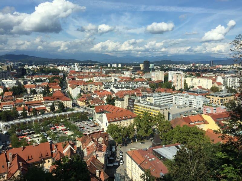 Πόλη του Λουμπλιάνα στοκ φωτογραφία με δικαίωμα ελεύθερης χρήσης