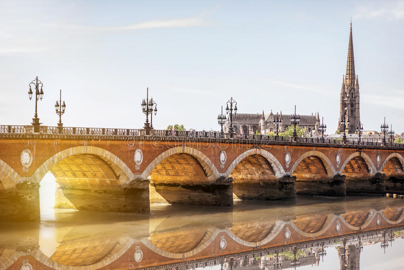 Πόλη του Μπορντώ στη Γαλλία στοκ εικόνα με δικαίωμα ελεύθερης χρήσης