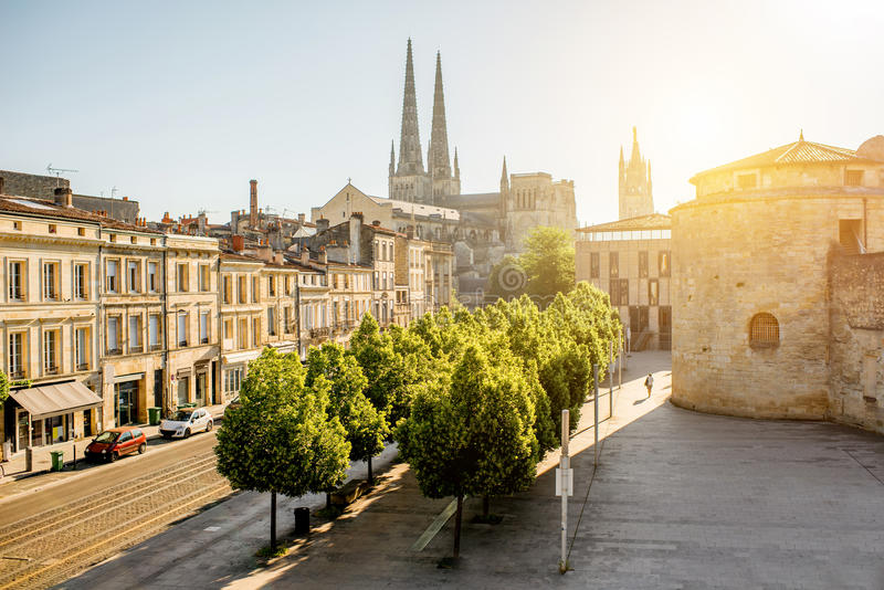 Πόλη του Μπορντώ στη Γαλλία στοκ φωτογραφία