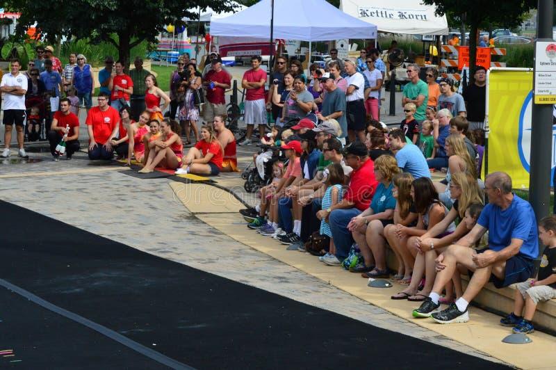 Πόλη του Μπλούμινγκτον, ΗΠΑ - Sweetcorn και φεστιβάλ μπλε στοκ φωτογραφία με δικαίωμα ελεύθερης χρήσης