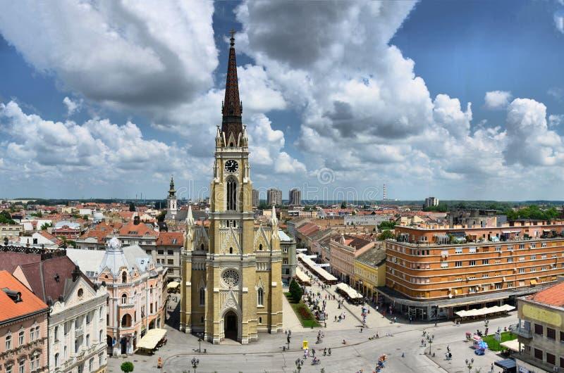 Πόλη του Νόβι Σαντ Vojvodina, Σερβία - εκκλησία του ονόματος της Mary στοκ εικόνα με δικαίωμα ελεύθερης χρήσης