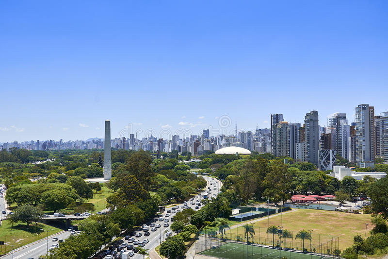 Πόλη του Σάο Πάολο, Βραζιλία Πάρκο Ibirapuera στοκ φωτογραφία