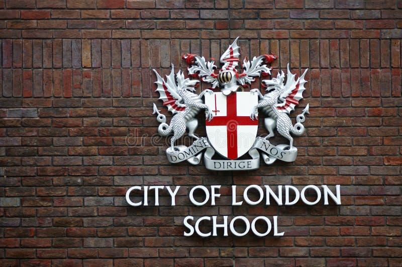 Πόλη του σχολείου του Λονδίνου στοκ φωτογραφία
