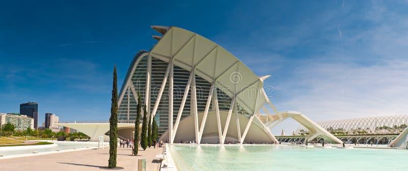 Πόλη των τεχνών και των επιστημών, Βαλένθια, Ισπανία στοκ φωτογραφία με δικαίωμα ελεύθερης χρήσης