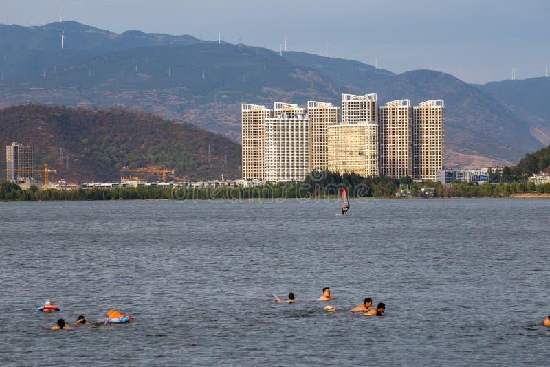 Πόλη όχθεων της λίμνης του Δαλιού, σε Yunnan της Κίνας στοκ φωτογραφία με δικαίωμα ελεύθερης χρήσης