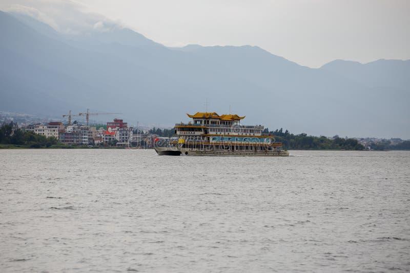 Πόλη όχθεων της λίμνης του Δαλιού Yunnan Κίνα στοκ εικόνα