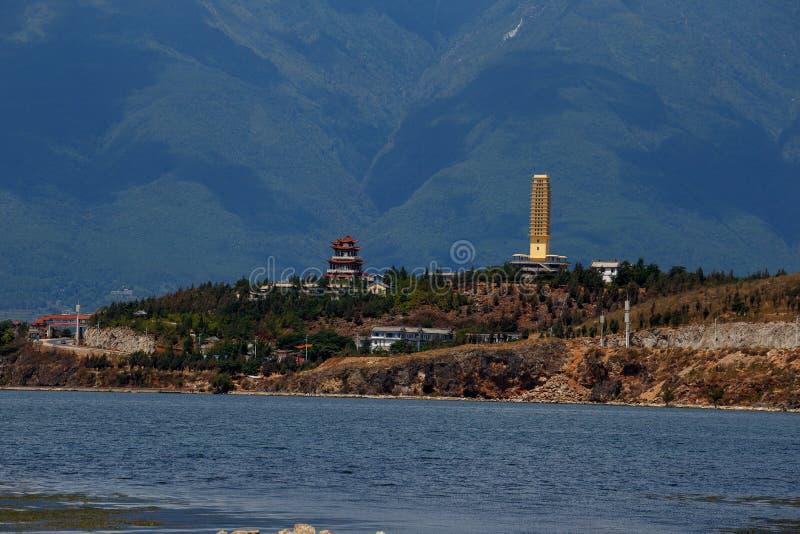 Πόλη όχθεων της λίμνης του Δαλιού Yunnan Κίνα στοκ φωτογραφία