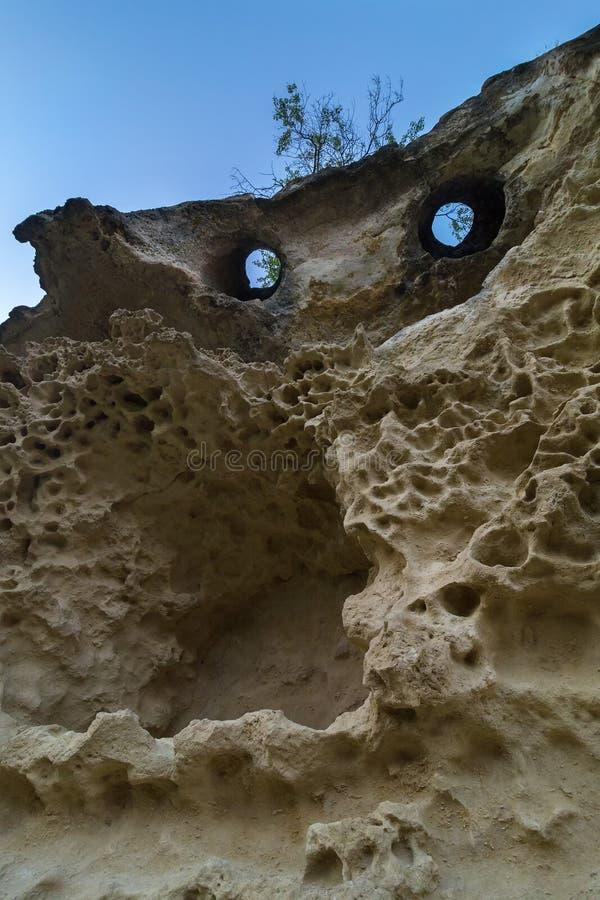 Πόλη Bakla σπηλιών σε Bakhchysarai Raion, Κριμαία στοκ εικόνες