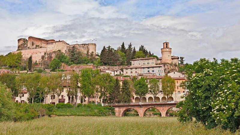 Πόλη Castrocaro Terme, Αιμιλία-Ρωμανία, Ιταλία SPA στοκ εικόνα με δικαίωμα ελεύθερης χρήσης