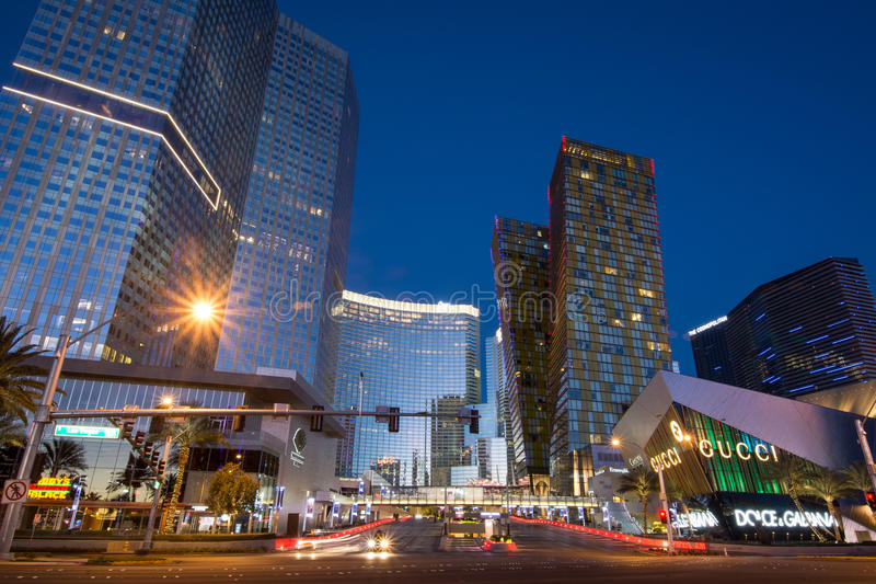 Πόλη CenterLas Vegas Blvd στοκ φωτογραφίες