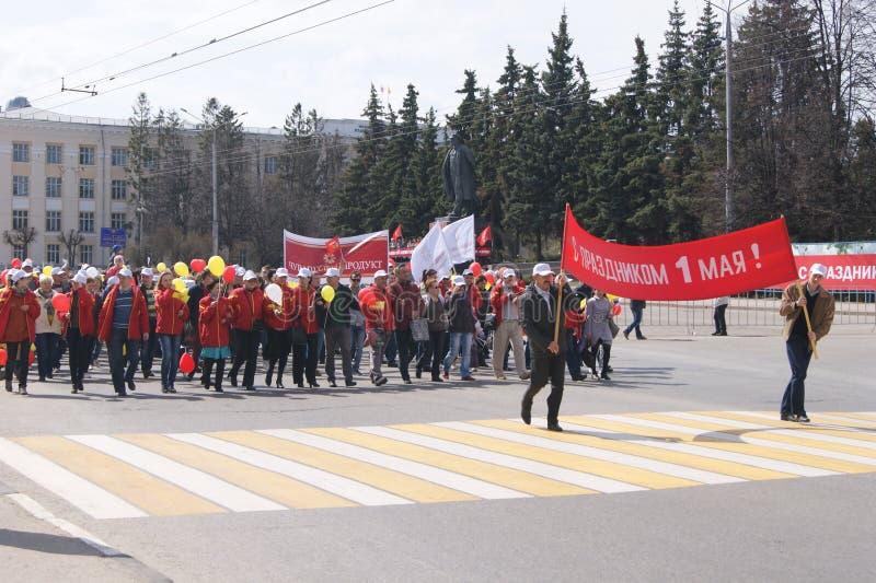 Πόλη Cheboksary διακοπών Μαρτίου την 1η Μαΐου στοκ εικόνες