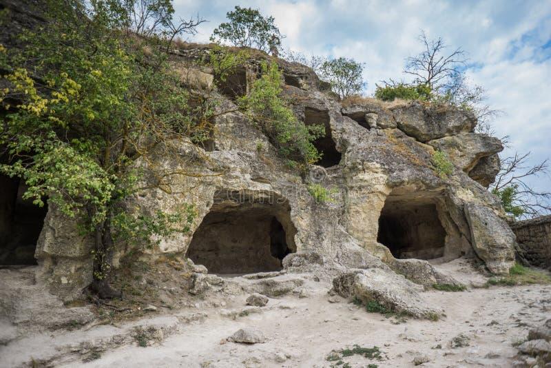 Πόλη chufut-Kale, Bakhchisarai σπηλιών στοκ εικόνα