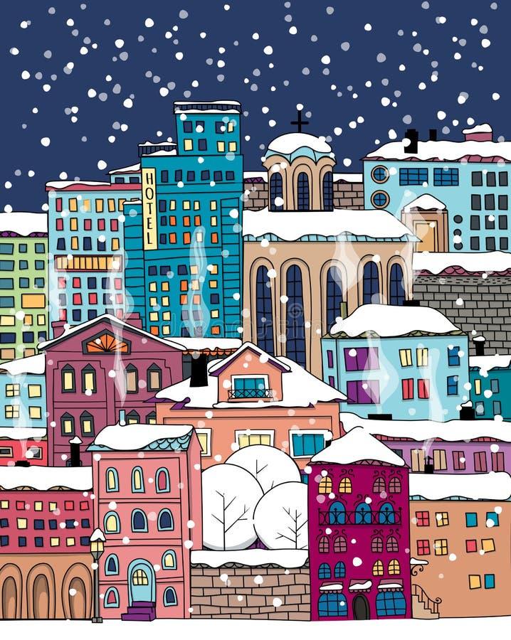 Πόλη Doodle διανυσματική απεικόνιση