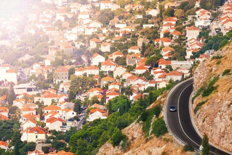 Πόλη Dubrovnik και του αυτοκινητόδρομου στοκ εικόνες