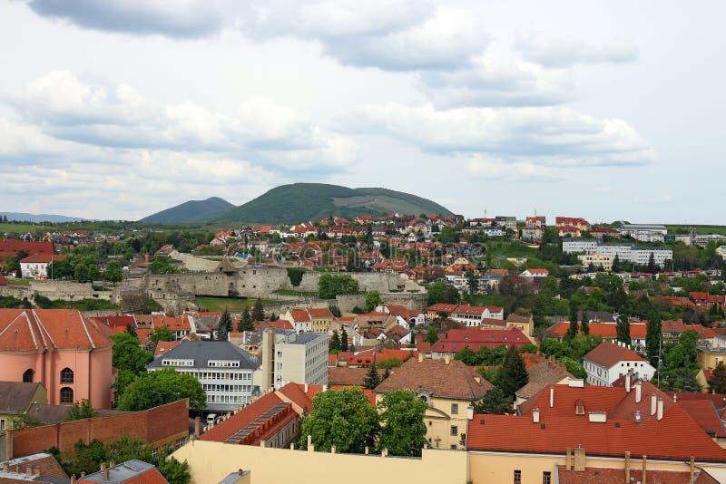 Πόλη Eger και εικονική παράσταση πόλης φρουρίων στοκ εικόνα με δικαίωμα ελεύθερης χρήσης